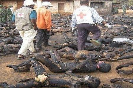 اجساد سوخته مسلمانان میانمار